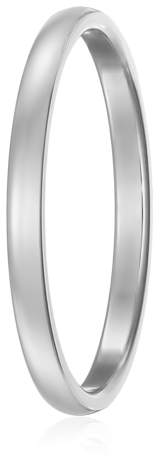 Classic Fit 14K White Gold Band, 2mm, Size 8.5 by Amazon Collection (Image #2)