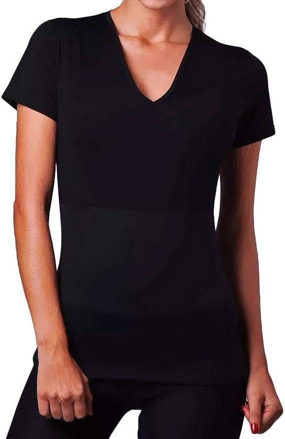 Camiseta de neopreno efecto sauna adelgaza brazos y abdomen ...