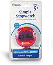 Learning Resources Simple 3 Button Stopwatch, Supports Science Investigations, Timed Math Exercises, Elapsed T