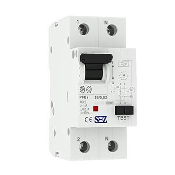 SEZ Fi-Schalter 16A 30mA 2p 10kA TYP.A Fehlerstromschutzschalter FI ...