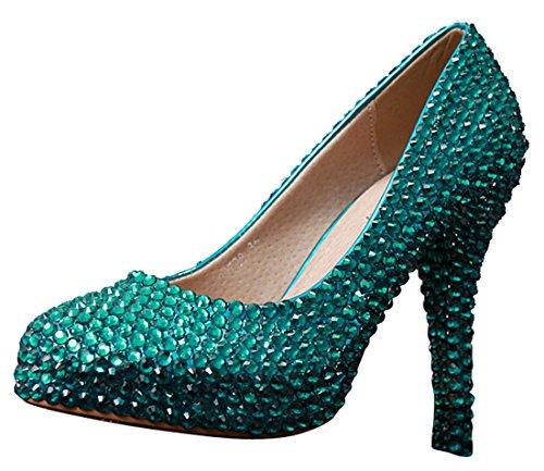 vert Heel femme Semelle 14cm Green 34 Miyoopark compensée wtvqfqA