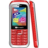 "Smooth Snap UNLOCKED Cell Phone 2.4 "" Display GSM Worldwide DUAL SIM Camera FM Radio Mp3 Player CASE INCLUDED - Red"