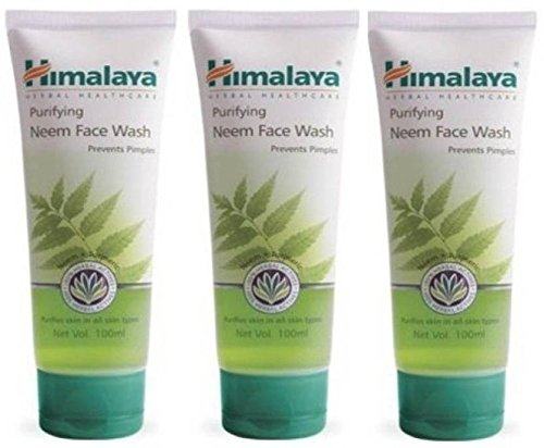 HIMALAYA PURIFYING NEEM FACE WASH 50ML  PACK OF3