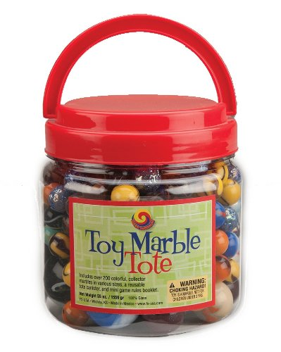 Mega Fun USA Toy Marble Tote with Mega Marbles