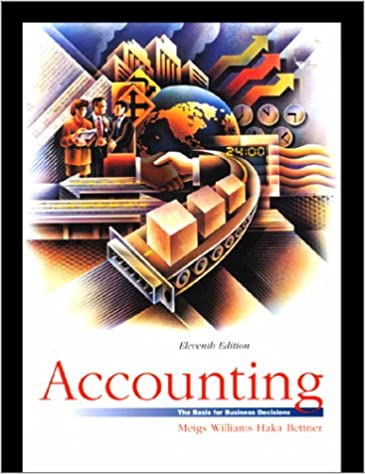Accounting by meigs and meigs 11th edition solution manual.