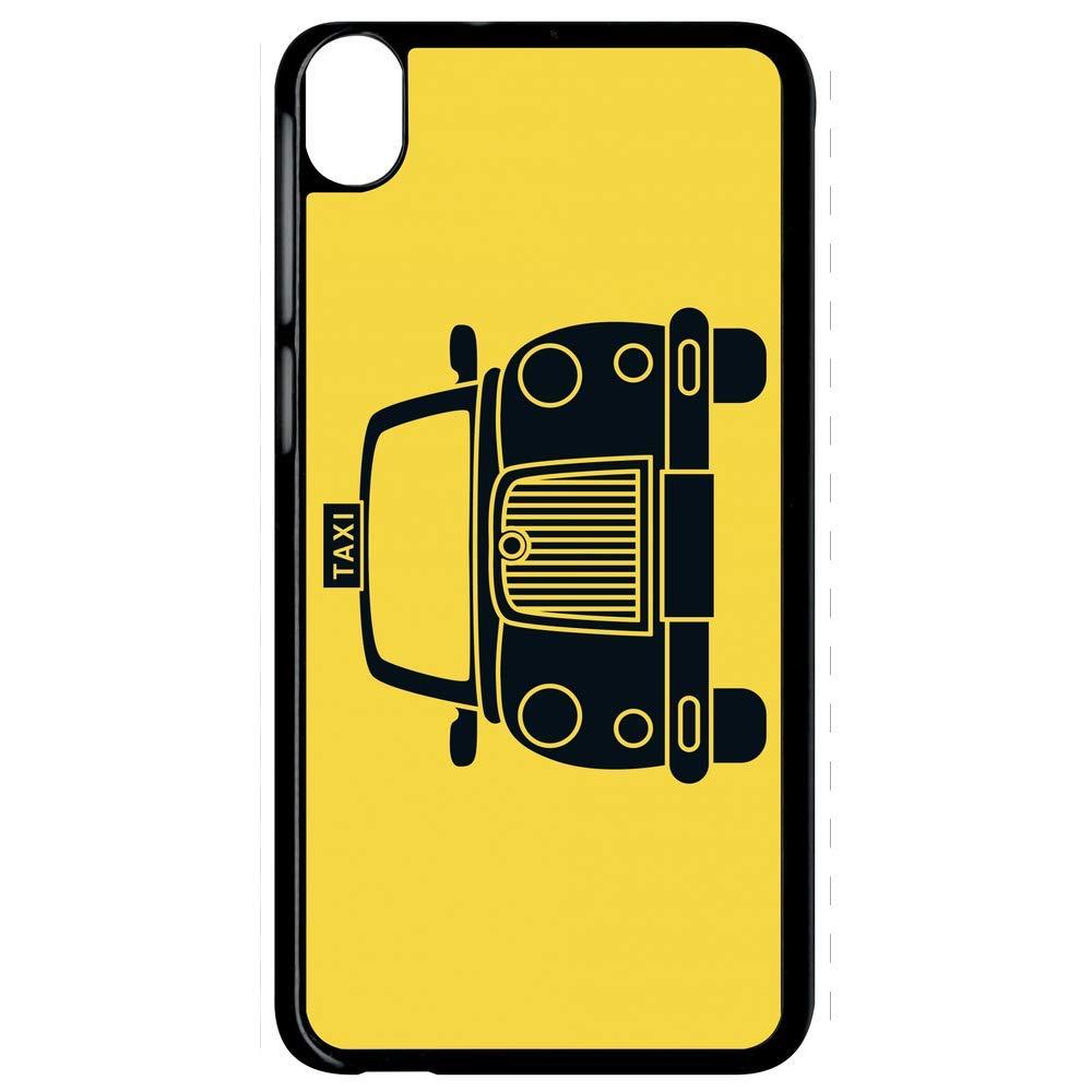 Carcasa HTC Desire 820 Taxi sobre fondo amarillo: Amazon.es ...