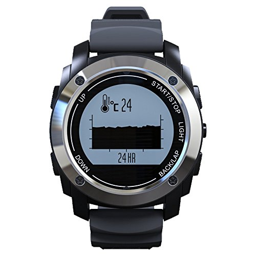 S928 GPS Outdoor Sports Smart Watch IP66 Life Waterproof with Heart Rate Monitor Pressure for Android 4.3 IOS 8.0 above (Black)