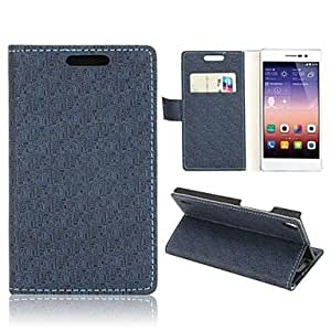 Maze Pattern PU Leather Case with Magnetic Wallet Flip Stand and Card Slot for Huawei Ascend P7(Assorted Colors)