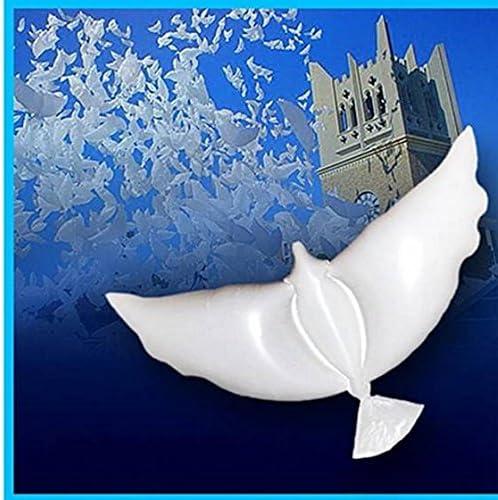 SODIAL R Ballon dhelium en forme de colombe pour le mariage blanc Decoration de la photo et de la fete