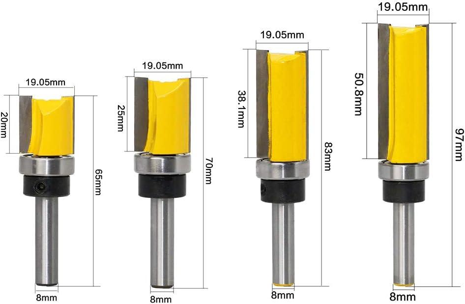 1xSchaftfräser Bits Kegelfräser Fräser Holzbearbeitungswerkzeug 8mm