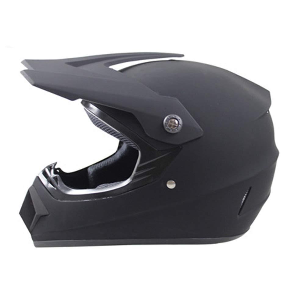 TOMSSL高品質 四季クロスカントリーヘルメットモトクロスヘルメットマウンテンバイクフルヘルメットマルチカラーヘルメットクロスカントリーヘルメットロードオフロードレーシングヘルメット - マットブラック - 大 TOMSSL高品質 (Size : L) Large  B07SBZQMZC