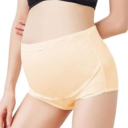 Voberry Womens Maternity Panties High Cut Cotton Over Bump Underwear Brief