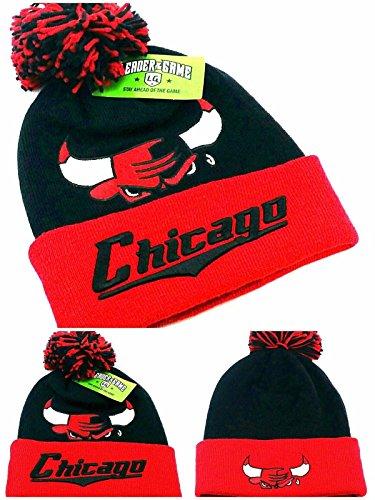 5f977d22cb1 Chicago Bulls Pom Hat. Chicago Leader New Knit Beanie Toque ...