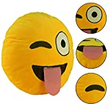 2016 Cute Emoji Smiley Smirking Cushion Pillow Toy Gift Soft Cushion Emotion Style Round Shape Home Office Accessory On Sale
