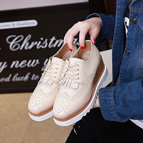 Shallow Boots Fashion Fight Shoes the with Waterproof white Color Table Women's Shoes EUR37 Mouth H5qwg4g