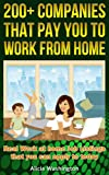 200 + Companies that Pay you to Work from Home: Real work at home Job Listings that you can apply to today