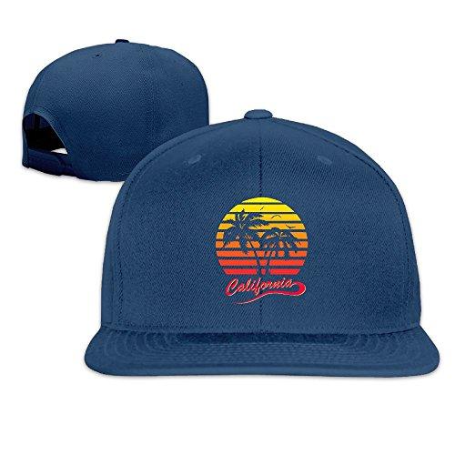 (PYBQMKK California 80s Sunset Baseball Hats Men Women Flat Bill Adjustable Vintage Trucker)