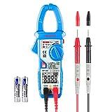 Janisa MT100 Digital Clamp Meter AC/DC Amperemeter 6000 Counts Fully Automatic Multimeter Current Voltage Resistance Capacitance (Blue) 30% OFF