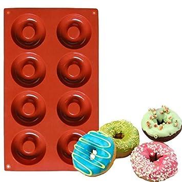 2 Pack 8 Cavidad Silicona Mini Donut Pan, Donut Pans, Donut Maker, Doughnut