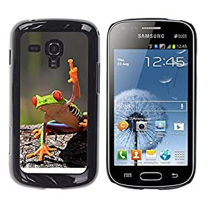 iBinBang / Funda Carcasa Cover Skin Case - Fresco de la rana verde de la selva de la criatura - Samsung Galaxy S Duos S7562