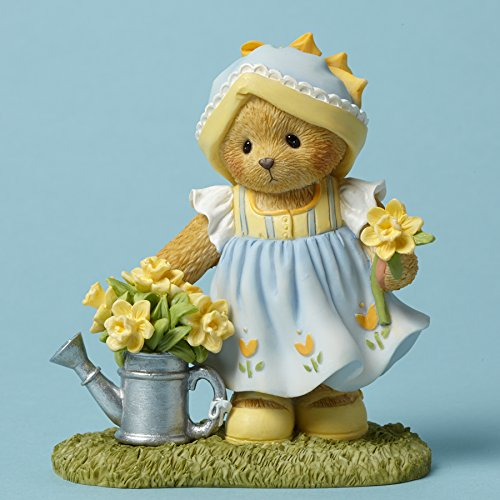 Cherished Teddies Johanna Bear With Daffodils Figurine (Daffodil Bear)