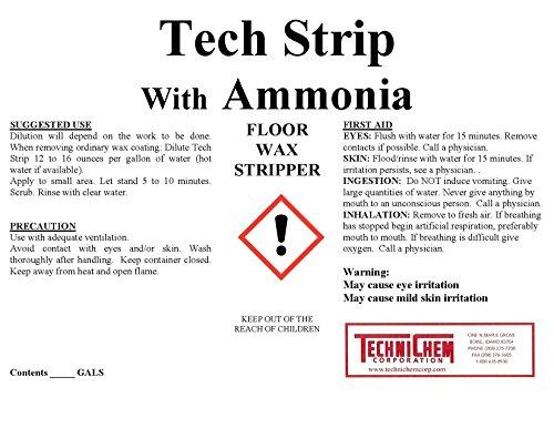 Technichem Corporation TECH STRIP Floor Wax Stripper with Ammonia (1-6 Gallon Pail) ()
