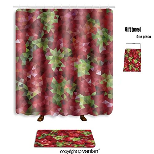 vanfan bath sets with Polyester rugs and shower curtain vector illustration of abstract background fo shower curtains sets bathroom 69 x 84 inches&31.5 x 19.7 inches(Free 1 towel and 12 hooks)