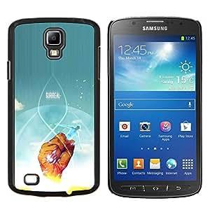 Qstar Arte & diseño plástico duro Fundas Cover Cubre Hard Case Cover para Samsung Galaxy S4 Active i9295 (Cartel surrealista)
