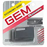single blade - Gem Personnal Single Edge Stainless Steel Blades with Used Blade Vault, 10-Count Packages  (Pack of 4)