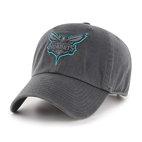(NBA Charlotte Hornets Male OTS Challenger Adjustable Hat, Dark Charcoal, One Size)