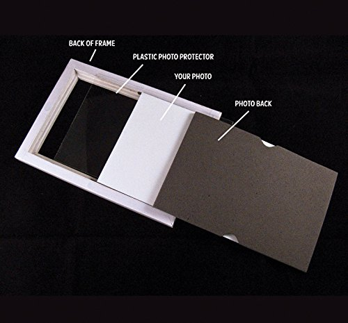 Fridgepic Wood Magnetic Photo Picture Frames, Black - Set of 5 (4x6) by FridgePIC Magnetic Frames (Image #4)