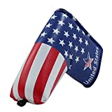 Craftsman Golf Stars and Stripes Golf Putter Club Head Cover Headcover for Scotty Cameron Odyssey Blade Callaway Taylormade Titleist Ping Mizuno (For Blade Putter)