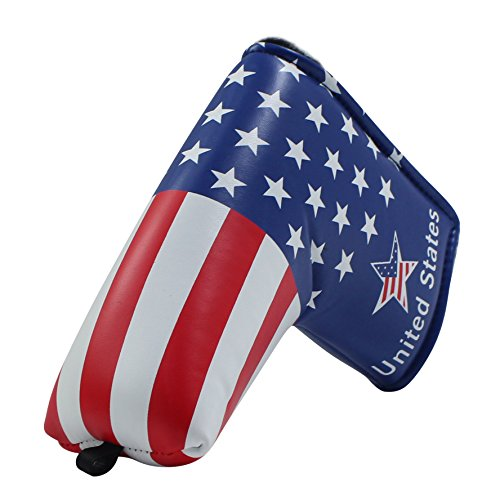Craftsman Golf Stars and Stripes Golf Putter Club Head Cover Headcover for Scotty Cameron Odyssey Blade Callaway Taylormade Titleist Ping Mizuno (For Blade Putter) - Golf Club Putter Cover
