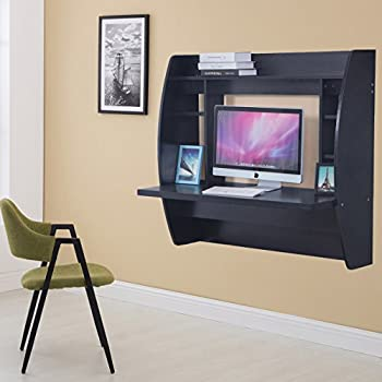 Amazon Com Prepac Wall Mounted Floating Desk With Storage