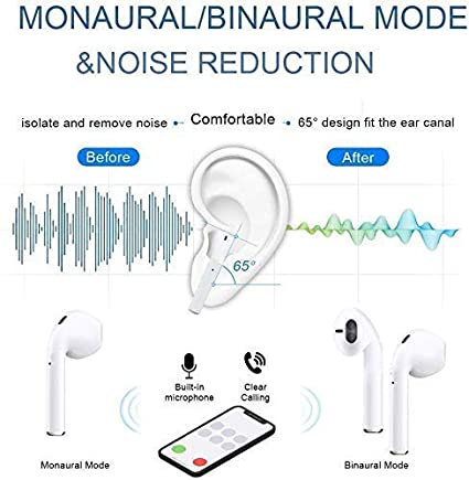 Pop-ups Auto Pairing for Apple Airpods Android//iPhone Samsung Bluetooth 5.0 Wireless Earbuds 3D Stereo 24H Playtime Wireless Sports Headset 2019NewEarbuds IPX5 Waterproof Bluetooth Headphones
