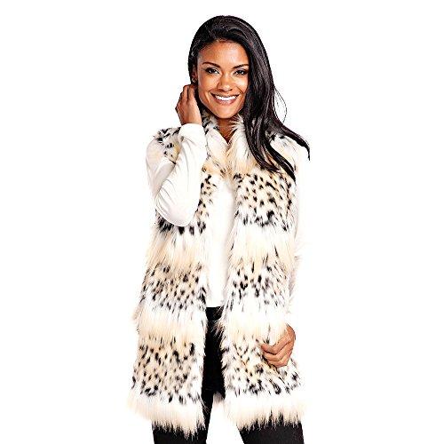 Donna Salyers' Fabulous-Furs Hook Vest (Bobcat, X-Small) (Fabulous Furs Fur Vest)