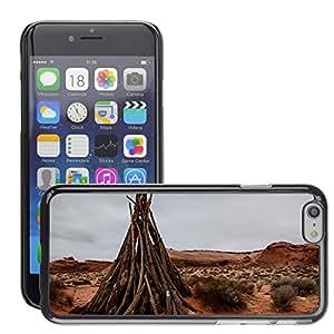 """Cas Coq Case Cover // M00421385 El desierto rojo Paisaje Hierba Madera // Apple iPhone 6 4.7"""""""