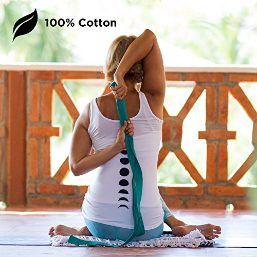 Yoga Strap exercise, stretching, fitness, durable cotton, 8.4ft yoga strap