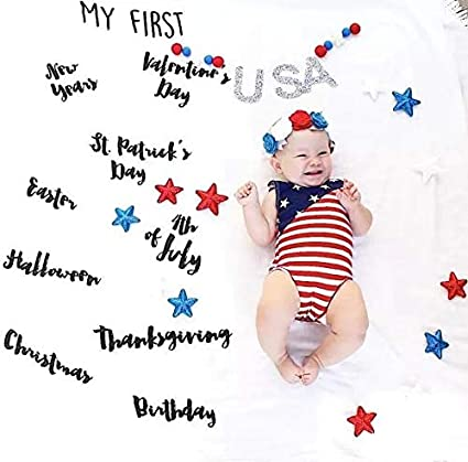 """Extra Large 40/""""60/"""" Iestar Baby Milestone Blanket Double-Sided Soft/&Smooth Fleece Monthly Photo Prop for Girl Boy Newborn"""