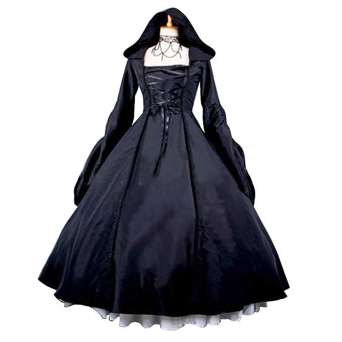 Amazon.com: Pevor - Vestido de bruja con capucha para mujer ...