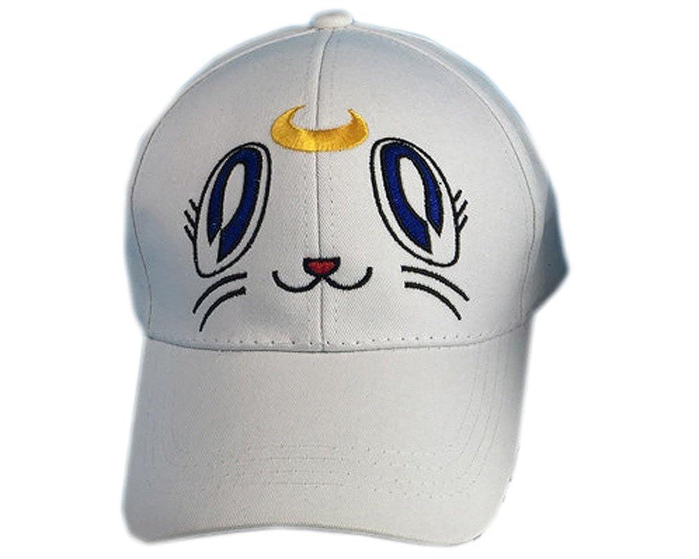 E.a@Market Personality Sailor Moon Baseball Cap Hip-hop Cap White