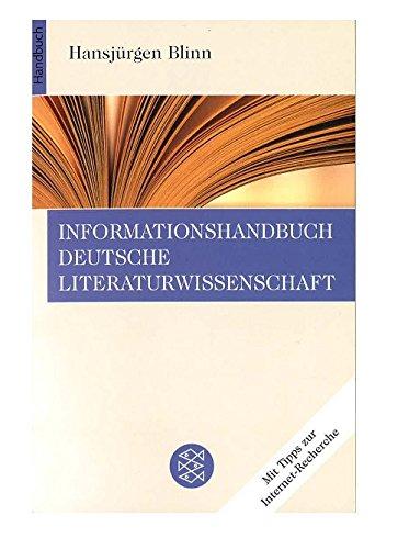 Informationshandbuch Deutsche Literaturwissenschaft. pdf epub