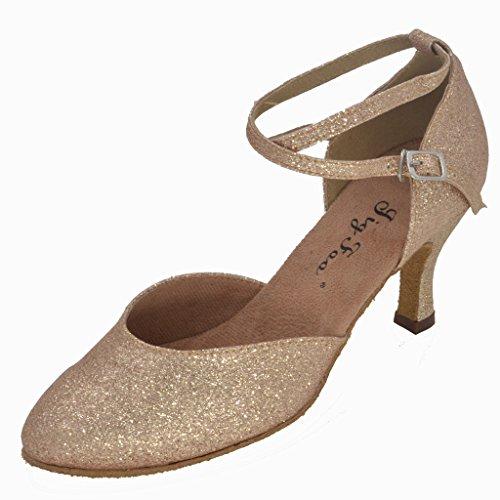 Plantilla Flipmycover bombas zapatos de baile de las mujeres dorado