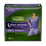 Depend Underwear Overnight Small/Medium for Women 16-Count