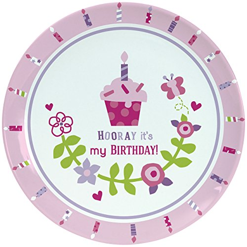 "C.R. Gibson Porcelain Cake Plate, By Gibby & Libby, Smash Cake, Birthday Celebration Plate, Dishwasher Safe, Plate Measures 8"" - Birthday Girl"
