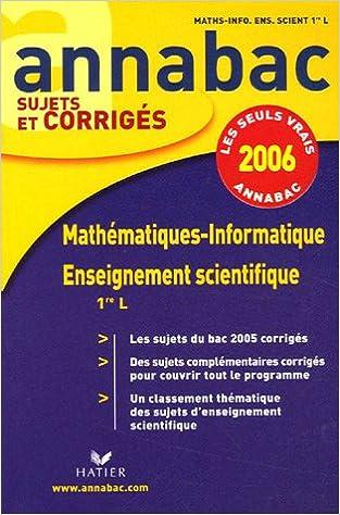 Lire Mathématiques-Informatique 1e L ; Enseignement scientifique 1e L pdf, epub ebook