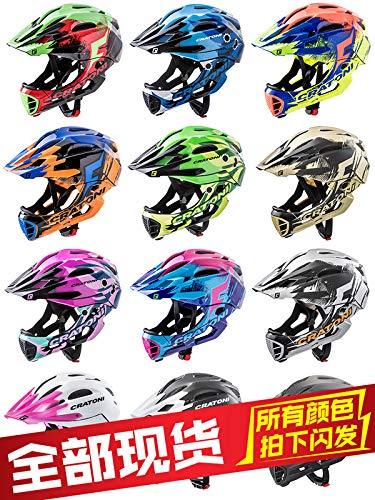 ドイツcratoniプロKatuoニッケルヘルメットフルヘルメットチャイルドカーバランスの取れた車防護服をサイクリングスライディング   B07S3K7KFX