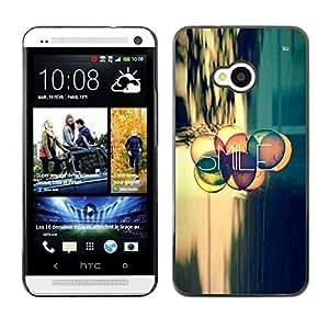 Stuss Case / Funda Carcasa protectora - Smile Quote Positive Life Attitude Motivation - HTC One M7