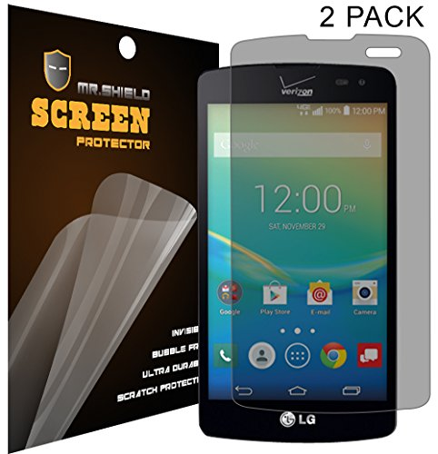 Mr Shield For LG TRANSPYRE / LG Optimus F60 Privacy [Anti Spy] Screen Protector [2-PACK] with Lifetime Replacement Warranty
