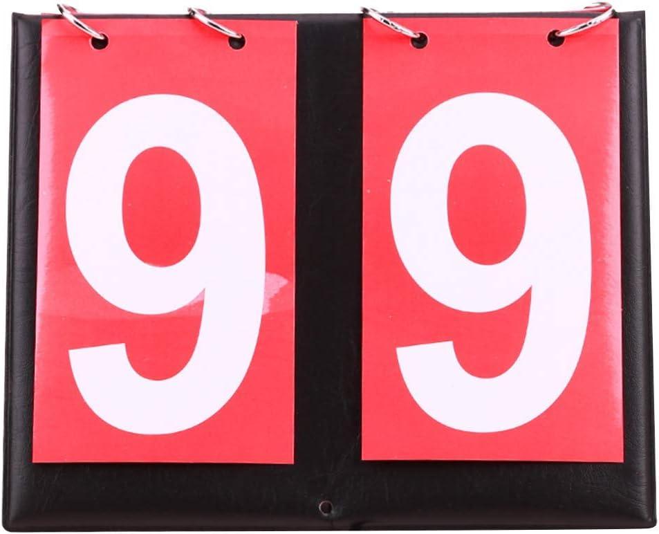 GCDN - Marcador portátil para Mesa de Ping Pong (0-99), Color Rojo, tamaño Tamaño Libre